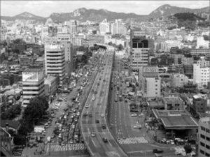 Seoul Cheonggyecheon River vor und nach Offenlegung